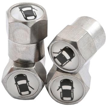 Súprava kovových čiapočiek s označením pozície kola