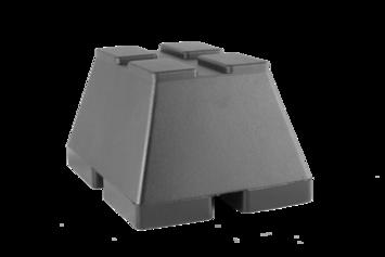 Gumová podložka zdviháka 160x120x90 mm