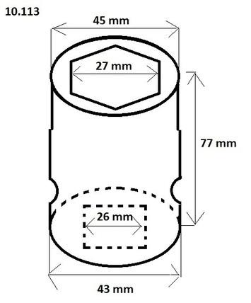 """Orech 1"""" 27 mm v. 77 mm - 2"""
