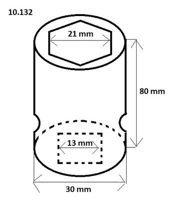 """Orech 1/2"""" 21 mm v. 80 mm - 2"""
