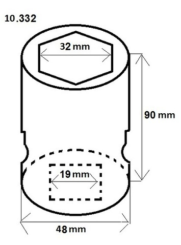 """Orech 3/4"""" 32 mm v. 90 mm - 2"""