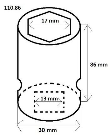 "Orech 1/2"" 17 mm s plastovým krytom - 2"