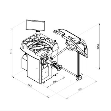 Vyvažovačka CB78 Automat 3D s dotykovým displejom - 2