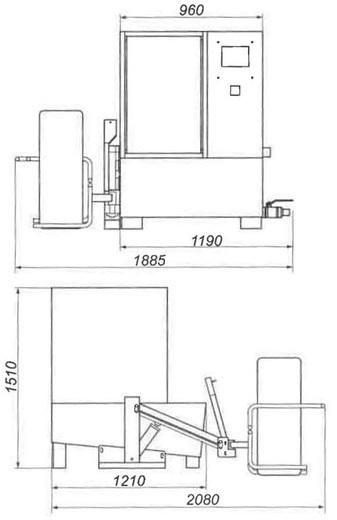 Zdvihák WL360 pre umývačky kolies - 2