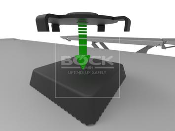 Adaptér pre zdvíhanie áut modelu Tesla 3 - stredná veľkosť - 3
