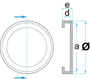 Gumová podložka zdviháka 126x24 mm - 3