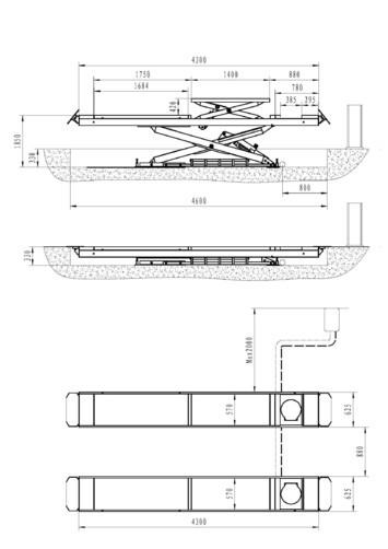 Nožnicový zdvihák pre geometriu SF-H4000 - 3