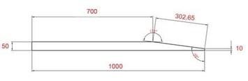 Gumová nájezdová rampa 50 mm - 4